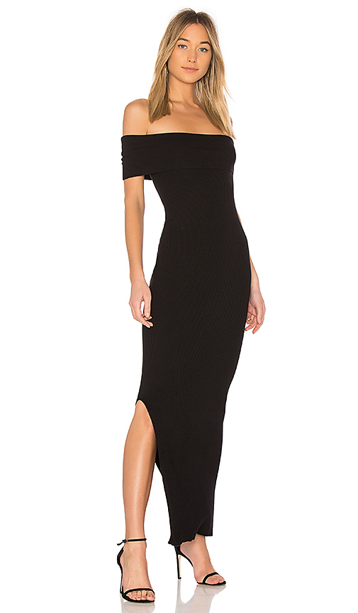 525 america Off the Shoulder Maxi Dress in Black