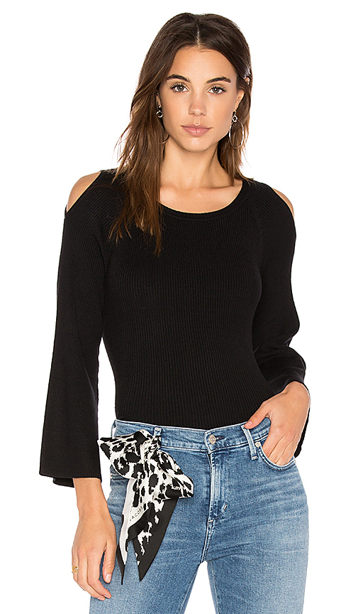 525 america Cut Out Shoulder Sweater in Black. - size M (also in S,XS)