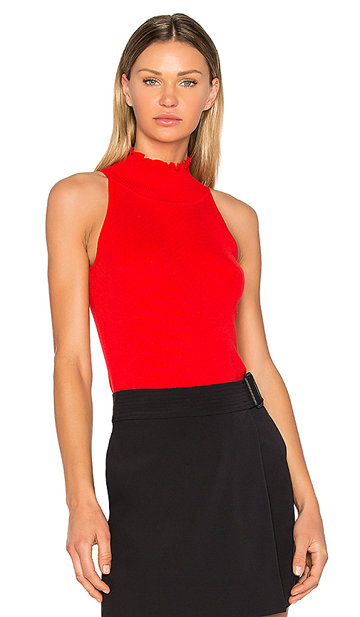 525 america Mock Neck Sweater in Red. - size L (also in M,S)