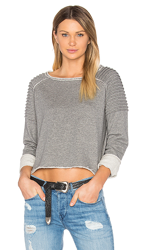 525 america Unfnished Edge Sweatshirt in Gray. - size M (also in L,S,XS)