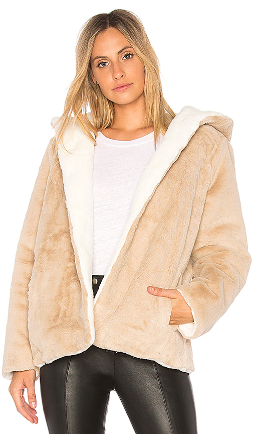 525 america Vegan Fur Reversible Jacket in Beige
