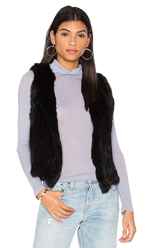 525 america Rabbit Fur Vest in Black. - size L (also in M,XS)