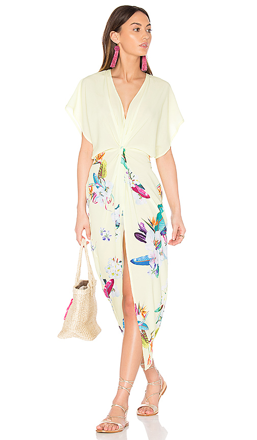 6 SHORE ROAD Pelican Cover Up Dress in Yellow.