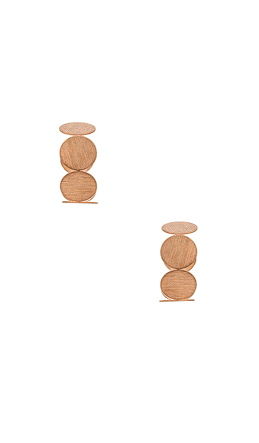 8 Other Reasons X REVOLVE Comes Around Huggies Earrings in Metallic Copper