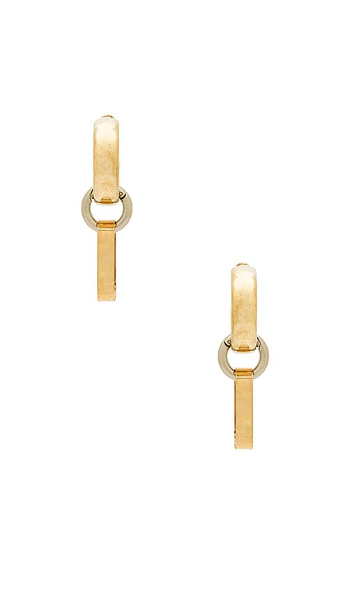 8 Other Reasons X REVOLVE Link Hoop Earrings in Metallic Gold