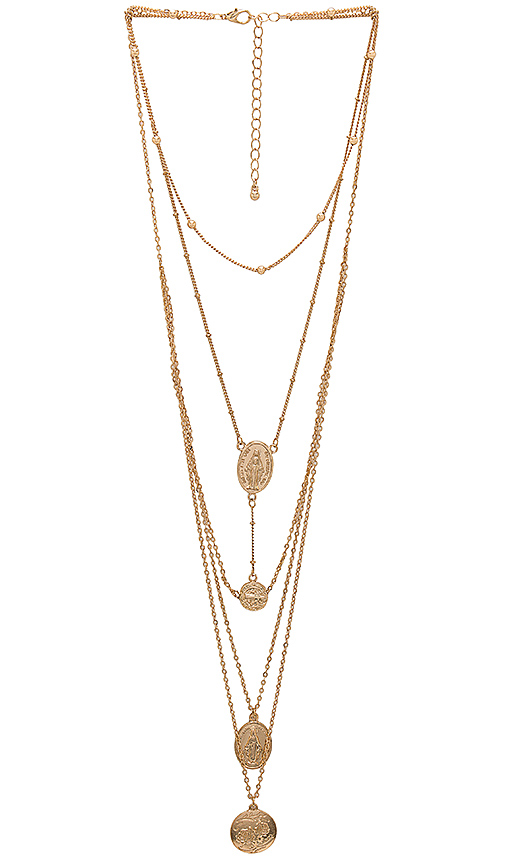 8 Other Reasons Treasure Chest Necklace in Metallic Gold