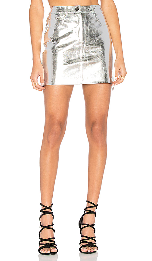 ARC Kaia Skirt in Metallic Silver. - size M (also in S)