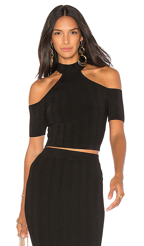 ARC Kelly Cold Shoulder Top in Black