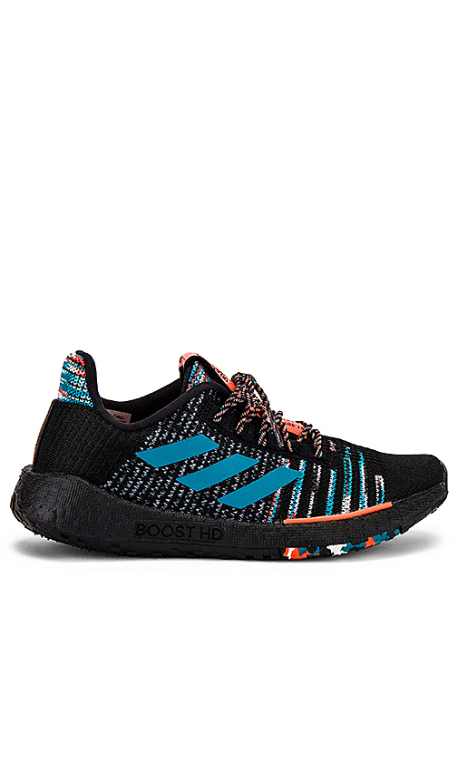 Adidas By Missoni Sneakers ADIDAS BY MISSONI PULSEBOOST HD SNEAKER IN CORE BLACK  WHITE & ACTIVE ORANGE