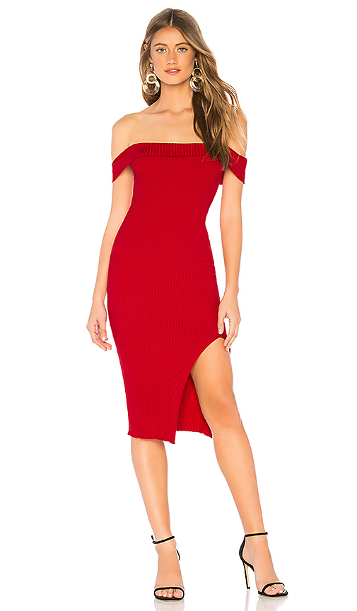 About Us Delia Knit Dress in Red. Size S.