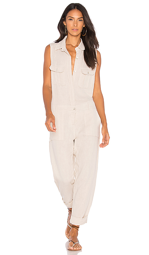 Acacia Swimwear Hollywood Jumpsuit in Cream