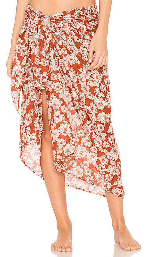 Acacia Swimwear Kaua Sarong in Red
