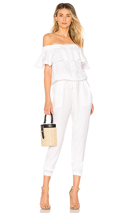 YFB CLOTHING Chels Jumpsuit in White. - size M (also in S,XS)