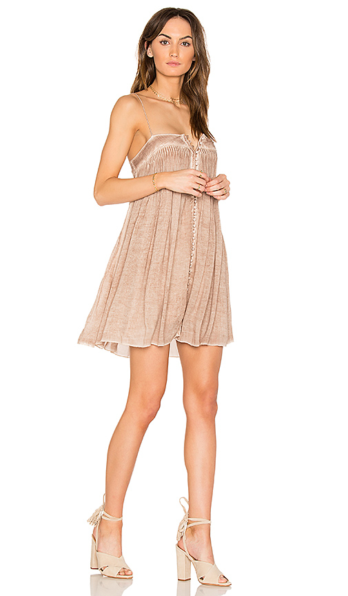 YFB CLOTHING Bevy Dress in Brown