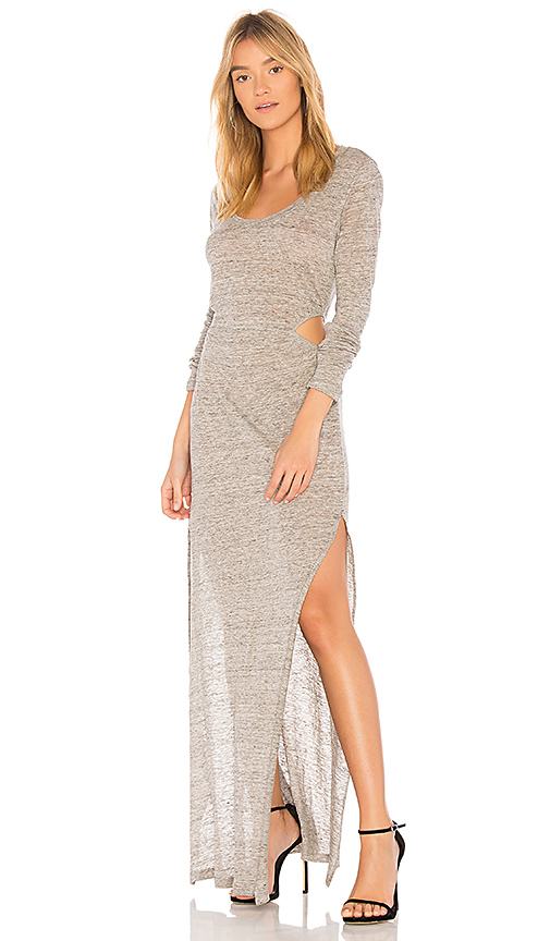 YFB CLOTHING Athina Dress in Gray