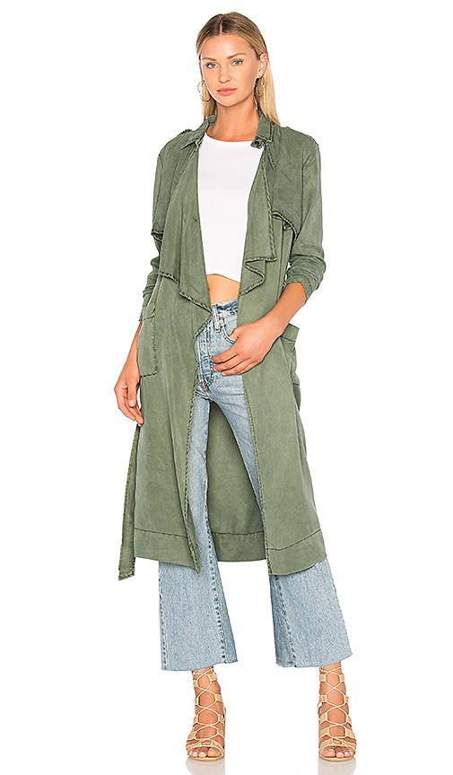 YFB CLOTHING January Coat in Green. - size S (also in L,M,XS)