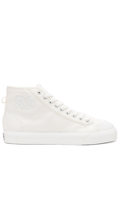 adidas by Raf Simons Spirit High Top Sneaker in Cream. - size 5 (also in 7.5)