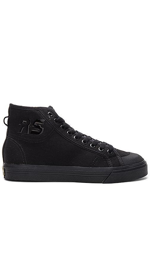 adidas by Raf Simons Spirit High Top Sneaker in Black