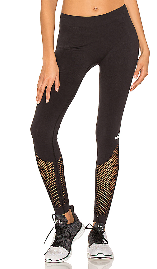 adidas by Stella McCartney The Seamless Mesh Tight in Black. - size L (also in S)