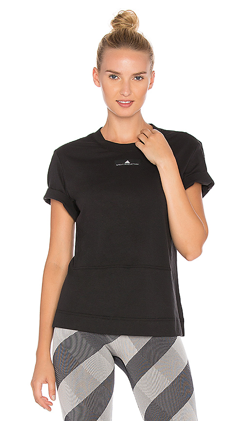 adidas by Stella McCartney Run Loose Tee in Black. - size M (also in L,S,XS)
