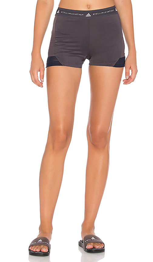 adidas by Stella McCartney Hot Yoga Short in Gray. - size L (also in M,S,XS)