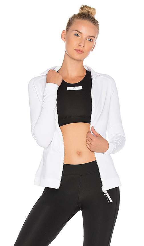 adidas by Stella McCartney The Midlayer Zip Up in White. - size L (also in M,S,XS)