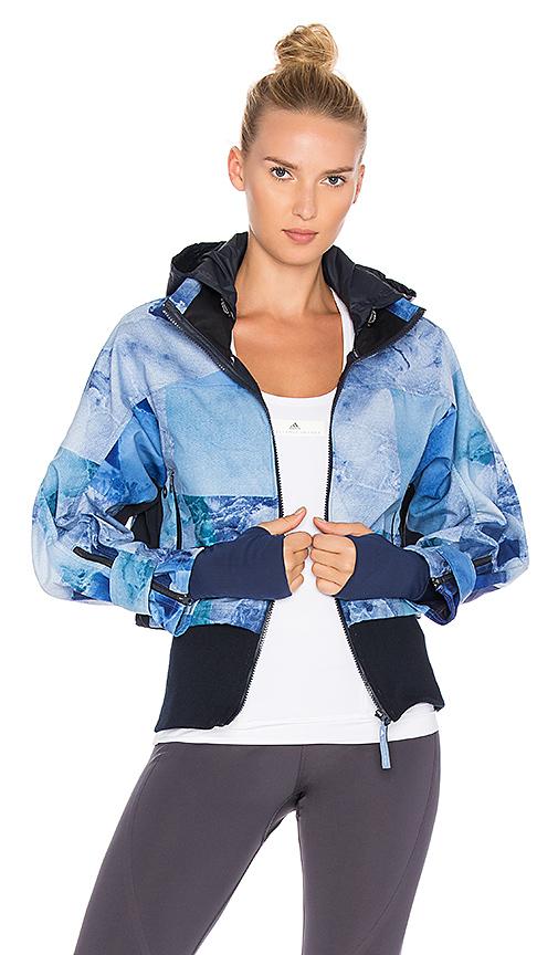 adidas by Stella McCartney Run Trail Jacket in Blue