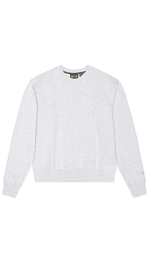 adidas x Pharrell Williams クルーネックスウェットシャツ in Gray.