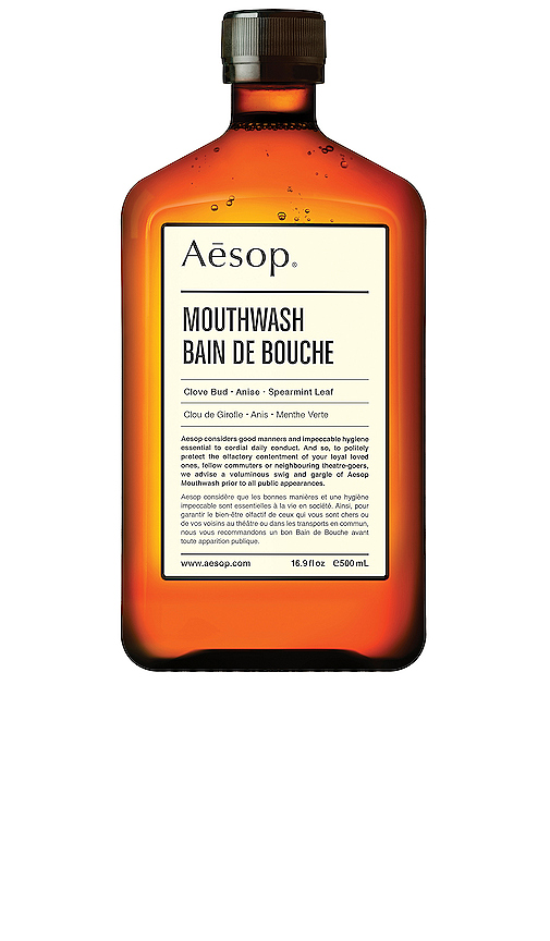 Aesop Mouthwash in Beauty: NA.
