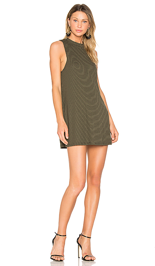A Fine Line Slay Stripe Dress in Dark Green. - size L (also in M,S)