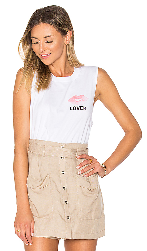 A Fine Line Lover Abby Tank in White. - size S (also in L,M)