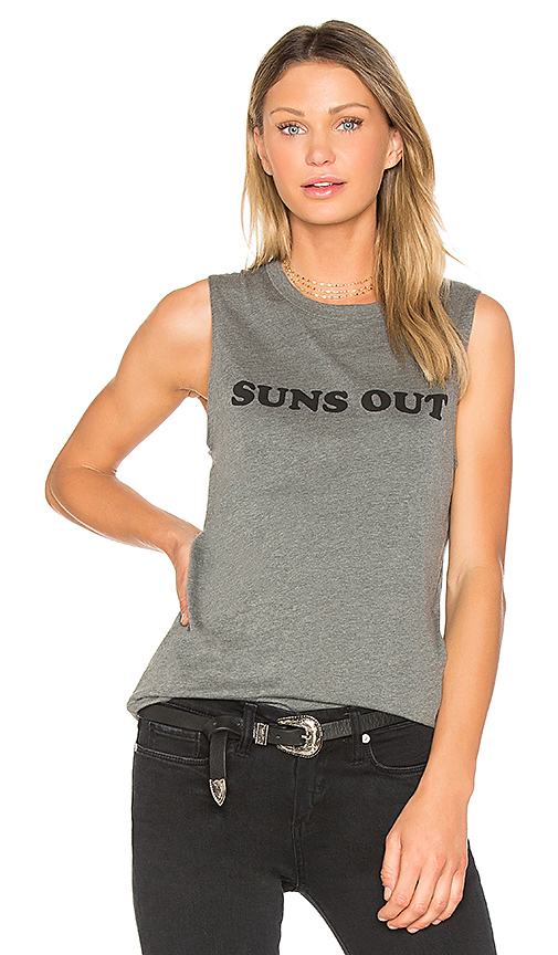 A Fine Line Suns Out Buns Out Abby Tank in Gray. - size L (also in M,S)