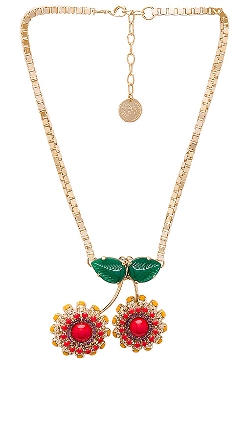 Anton Heunis Cherry Necklace in Metallic Gold