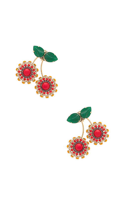 Anton Heunis Cherry Earring in Metallic Gold