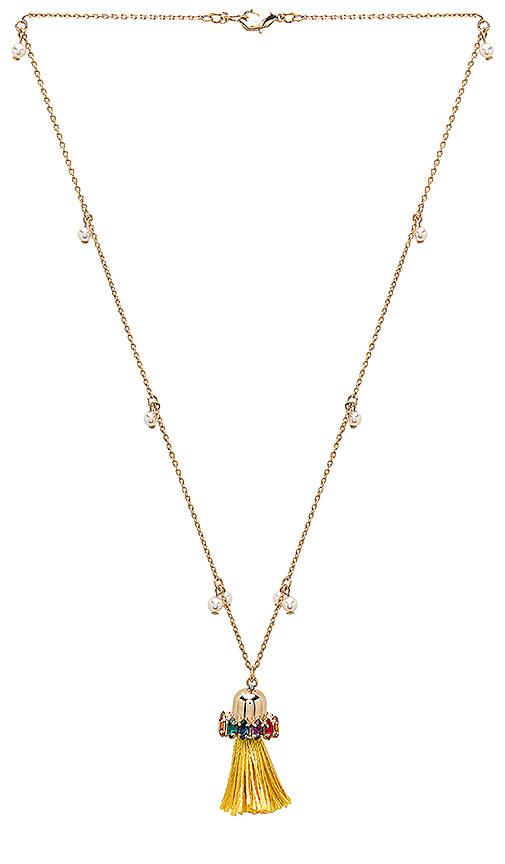 Anton Heunis Tassel Pendant Necklace in Metallic Gold.