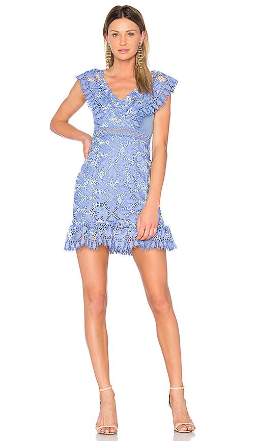 aijek Marianna Ruffled Dress in Blue