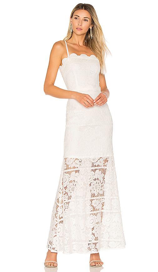 aijek Andrea Maxi Dress in White. - size 2/M (also in 1/S,3/L)