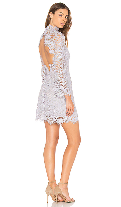 aijek Eva Backless Lace Dress in Lavender