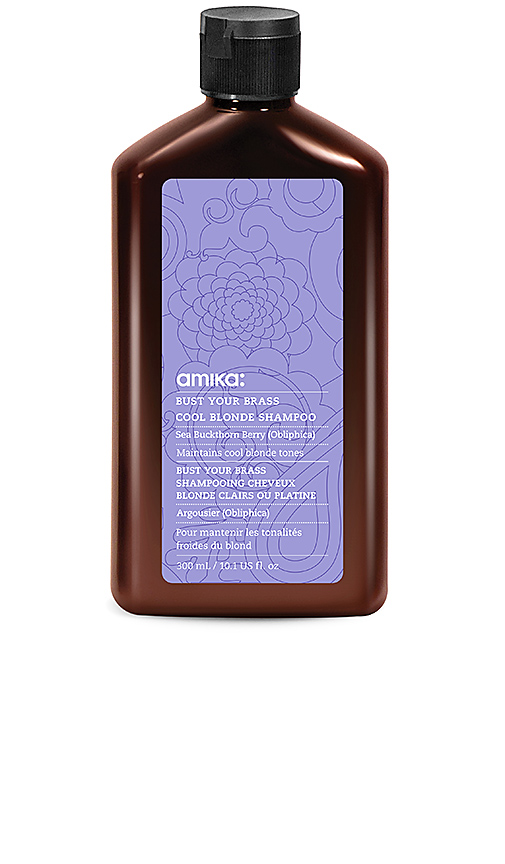 Amika Bust Your Brass Shampoo.