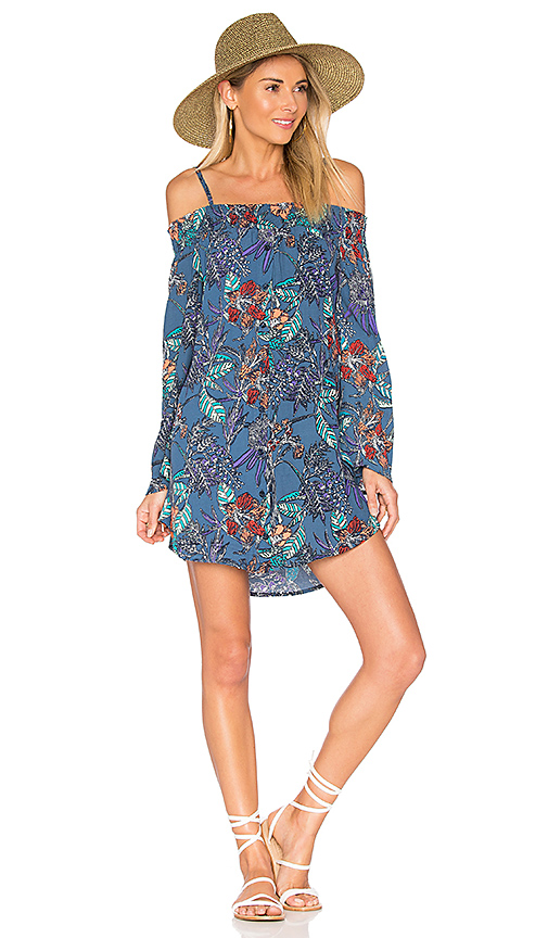 Aila Blue Gypsy Mini Dress in Blue