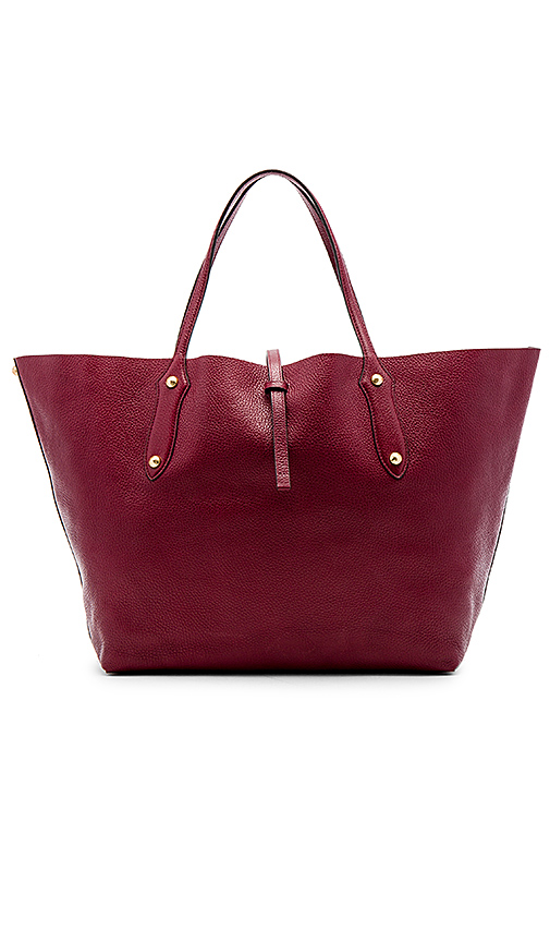 Annabel Ingall Large Isabella Tote in Burgundy.