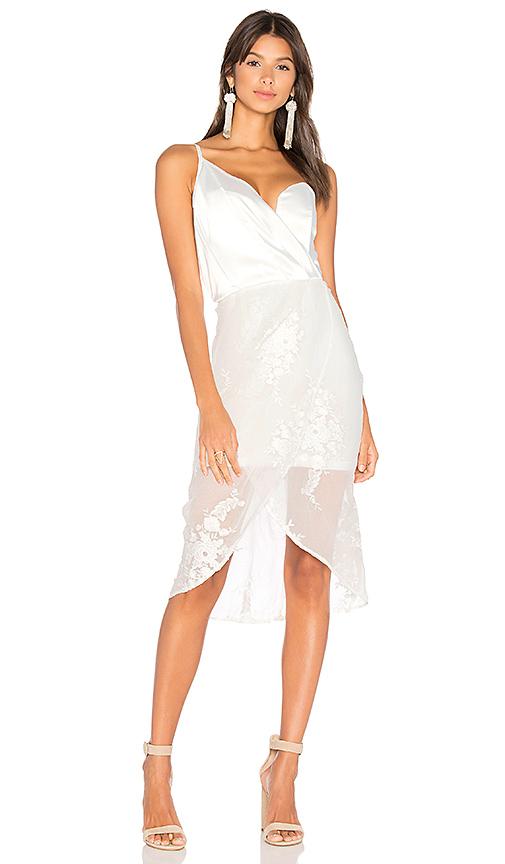 AIRLIE Leonie One Shoulder Dress in White