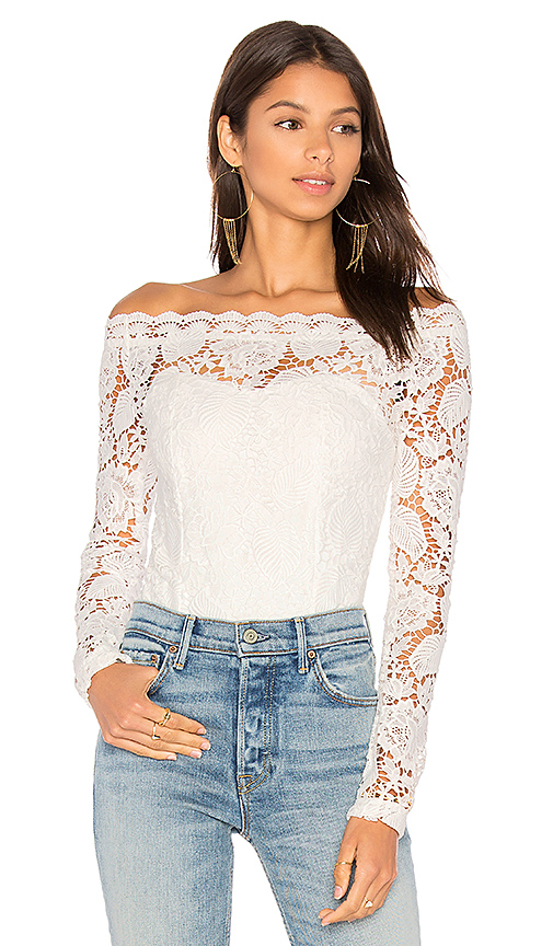 AIRLIE Pixie Bodysuit in White. - size L (also in S,XS)