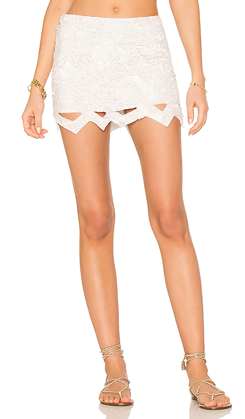 Aje X REVOLVE Catara Mini Skirt in White. - size 10 (also in 12)