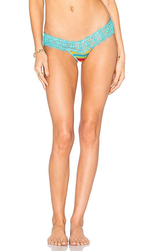 Anna Kosturova Rainbow Bella Bikini Bottom in Blue. - size L (also in M,S)