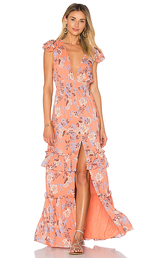 ale by alessandra x REVOLVE Lina Maxi Dress in Orange. - size XS (also in M,S)