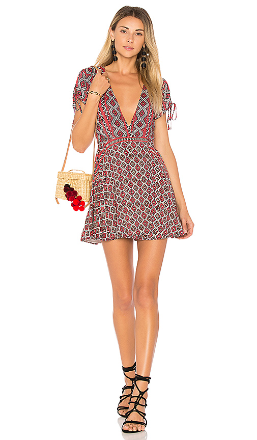 ale by alessandra x REVOLVE Lulana Mini Dress in Red. - size M (also in S,XL, XS)