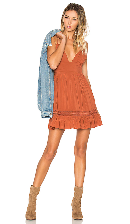 ale by alessandra x REVOLVE Doroteia Mini Dress in Tan. - size XL (also in XS)