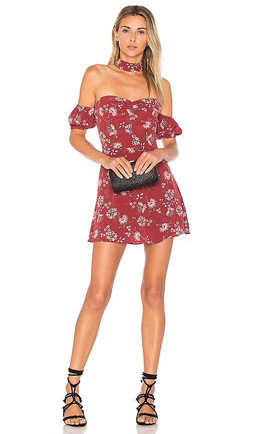 ale by alessandra x REVOLVE Luna Mini Dress in Burgundy. - size M (also in S,XS)