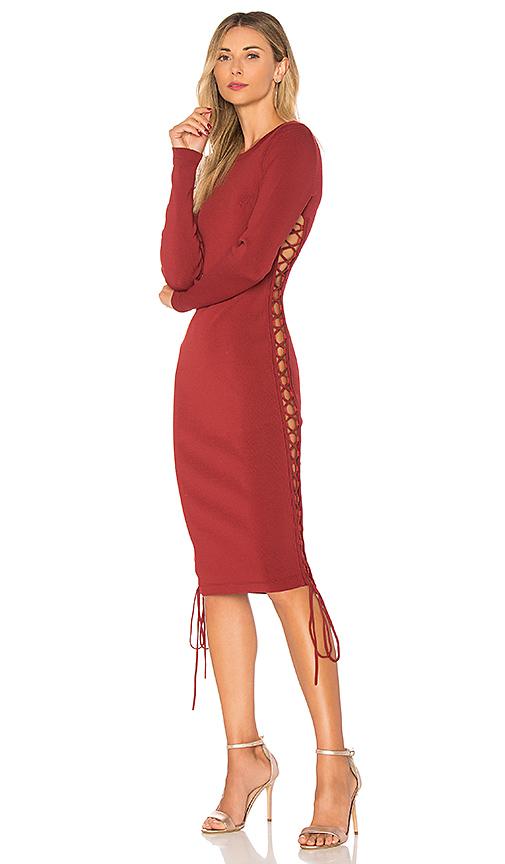 Photo of ale by alessandra x REVOLVE Tatiana Dress in Rust - shop ale by alessandra dresses sales